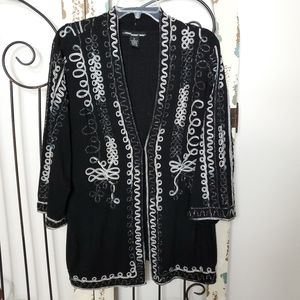 Sparkly embroidered cover-up cardigan 1X